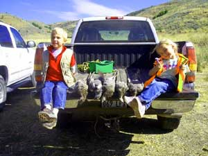 Kids and grouse hunting