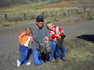 Dusky grouse hunting with kids